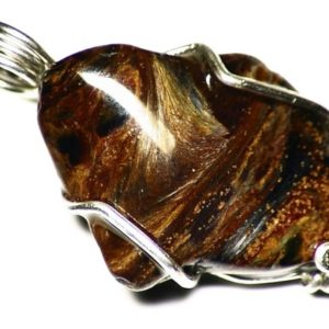 Shop Pietersite Pendants! Silver Pietersite Charm, Golden Pietersite Pendant, Namibian Pietersite in Sterling Silver, Tumbled Pietersite Jewelry, Shiny Gem Necklace | Natural genuine Pietersite pendants. Buy crystal jewelry, handmade handcrafted artisan jewelry for women.  Unique handmade gift ideas. #jewelry #beadedpendants #beadedjewelry #gift #shopping #handmadejewelry #fashion #style #product #pendants #affiliate #ad