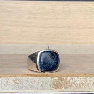 Shop Pietersite Rings! Mens' Gemstone Ring, Pietersite Silver Ring, Mens' Silver Ring, Large Black Gemstone Silver Ring | Natural genuine Pietersite rings, simple unique handcrafted gemstone rings. #rings #jewelry #shopping #gift #handmade #fashion #style #affiliate #ad