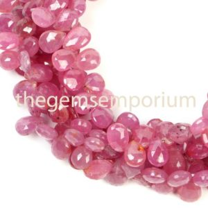 Shop Pink Sapphire Beads! Natural Pink Sapphire Faceted Pear Shape Beads, Pink Sapphire Pears Shape Beads Side Drill,Pink Sapphire Fancy Shape Bead,Pink Sapphire Bead   Natural genuine faceted Pink Sapphire beads for beading and jewelry making.  #jewelry #beads #beadedjewelry #diyjewelry #jewelrymaking #beadstore #beading #affiliate #ad