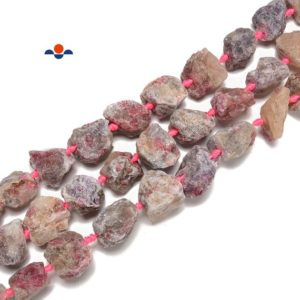 Shop Pink Tourmaline Chip & Nugget Beads! Natural Pink Tourmaline Rough Nugget Chunks Beads Size 20-30mm 15.5'' Strand | Natural genuine chip Pink Tourmaline beads for beading and jewelry making.  #jewelry #beads #beadedjewelry #diyjewelry #jewelrymaking #beadstore #beading #affiliate #ad