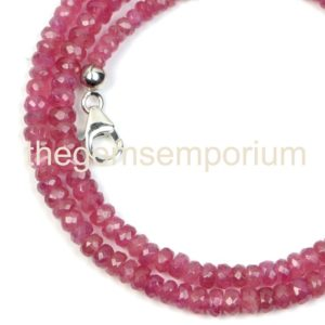 Shop Pink Tourmaline Necklaces! Pink Tourmaline Shaded Faceted  Necklace(3.5-5mm)with Silver Hook,Pink Tourmaline Shaded  Faceted Rondelle Gemstone Necklace.Wholesale Beads | Natural genuine Pink Tourmaline necklaces. Buy crystal jewelry, handmade handcrafted artisan jewelry for women.  Unique handmade gift ideas. #jewelry #beadednecklaces #beadedjewelry #gift #shopping #handmadejewelry #fashion #style #product #necklaces #affiliate #ad