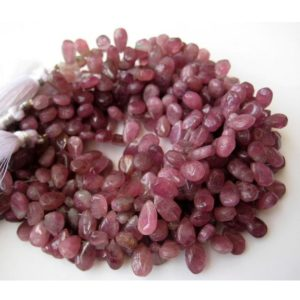 Shop Pink Tourmaline Bead Shapes! Pink Tourmaline Briolette, Pear Beads, Raw Pink Tourmaline, 10mm Beads, 45 Pieces Approx, 8.5 Inch Strand | Natural genuine other-shape Pink Tourmaline beads for beading and jewelry making.  #jewelry #beads #beadedjewelry #diyjewelry #jewelrymaking #beadstore #beading #affiliate #ad