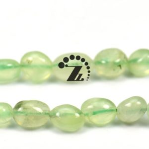 """Shop Prehnite Chip & Nugget Beads! Prehnite ,15"""" full strand Natural Prehnite beads,pebble nugget beads,Beautiful beads, 5-8mm 