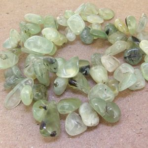 """Shop Prehnite Beads! One Full Strand—– Nugget Natural Prehnite Gemstone Beads —– 10mmx15mm —– about 60 Pieces —– gemstone beads— 15"""" in length 
