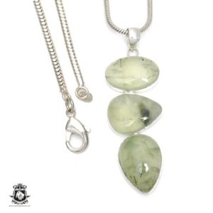 Shop Prehnite Pendants! Prehnite Pendant 4mm Italian Snake Chain P6424 | Natural genuine Prehnite pendants. Buy crystal jewelry, handmade handcrafted artisan jewelry for women.  Unique handmade gift ideas. #jewelry #beadedpendants #beadedjewelry #gift #shopping #handmadejewelry #fashion #style #product #pendants #affiliate #ad