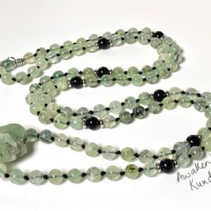 Shop Prehnite Pendants! Chakra Jewelry / Prehnite / Prehnite Mala Necklace / Prehnite Pendant / Prehnite Jewelry / Reiki Jewerly / Boho Necklace green heart chakra | Natural genuine Prehnite pendants. Buy crystal jewelry, handmade handcrafted artisan jewelry for women.  Unique handmade gift ideas. #jewelry #beadedpendants #beadedjewelry #gift #shopping #handmadejewelry #fashion #style #product #pendants #affiliate #ad