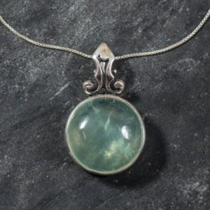 Shop Prehnite Pendants! Prehnite Pendant, Natural Prehnite, Vintage Pendant, May Birthstone, Statement Pendant, May Pendant, Green Pendant, Silver Pendant, Prehnite | Natural genuine Prehnite pendants. Buy crystal jewelry, handmade handcrafted artisan jewelry for women.  Unique handmade gift ideas. #jewelry #beadedpendants #beadedjewelry #gift #shopping #handmadejewelry #fashion #style #product #pendants #affiliate #ad