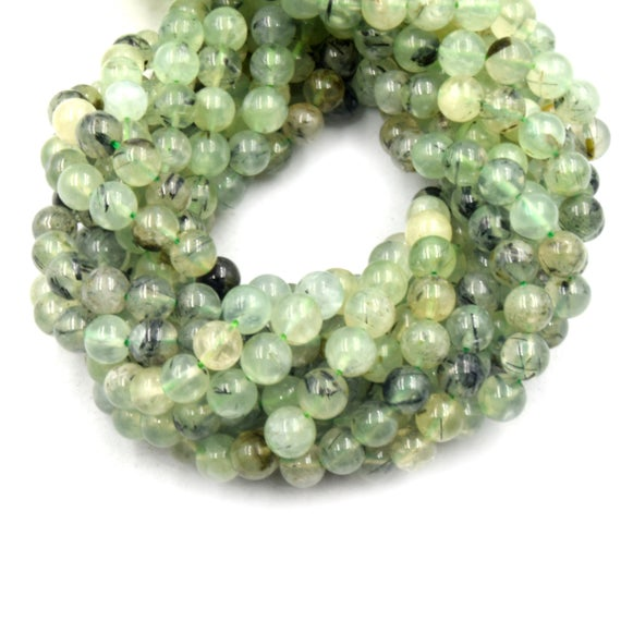 Prehnite Beads | Smooth Prehnite Round Beads | 6mm 8mm 10mm | Single Or Bulk Lots Available