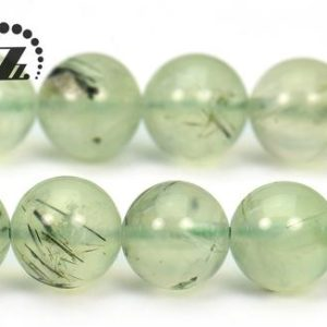 "Prehnite smooth round beads,Green Prehnite,Natural,Gemstone,Grade A,4mm 6mm 8mm 10mm 12mm for Choice,15"" full strand 