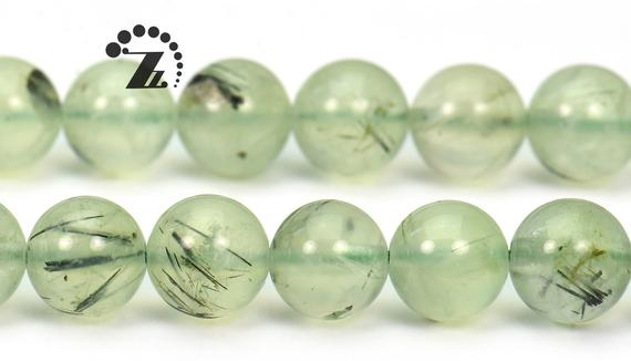 "Prehnite Smooth Round Beads,green Prehnite,natural,gemstone,grade A,4mm 6mm 8mm 10mm 12mm For Choice,15"" Full Strand"