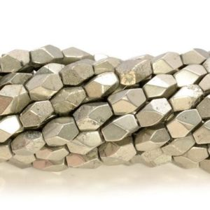Shop Pyrite Chip & Nugget Beads! 5-7mm Pyrite Gemstone Grade Aaa Faceted Hexagon Nugget Cube Beads 7.5 Inch Half Strand (80007343 H-406) | Natural genuine chip Pyrite beads for beading and jewelry making.  #jewelry #beads #beadedjewelry #diyjewelry #jewelrymaking #beadstore #beading #affiliate #ad