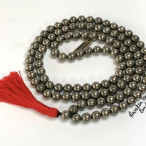 Shop Pyrite Necklaces! 108 pyrite protection mala beads necklace buddhist mala AAA grade gemstone jewelry natural crystal healing Pyrite necklace spiritual healing | Natural genuine Pyrite necklaces. Buy crystal jewelry, handmade handcrafted artisan jewelry for women.  Unique handmade gift ideas. #jewelry #beadednecklaces #beadedjewelry #gift #shopping #handmadejewelry #fashion #style #product #necklaces #affiliate #ad
