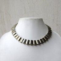 Natural Pyrite Gold Layout Necklace, Bib Necklace, Cleopatra Necklace, Graduated Collar Necklace, 12x9mm To 15x11mm, 17 Inch, Gds977 | Natural genuine Gemstone jewelry. Buy crystal jewelry, handmade handcrafted artisan jewelry for women.  Unique handmade gift ideas. #jewelry #beadedjewelry #beadedjewelry #gift #shopping #handmadejewelry #fashion #style #product #jewelry #affiliate #ad
