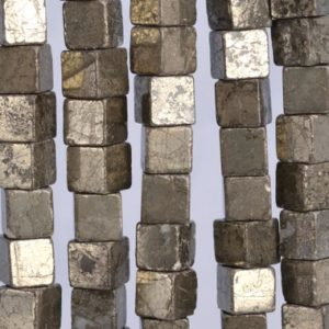 48 Pcs / 23 Pcs – 8MM Copper Pyrite Beads Cube Grade AAA Genuine Natural Gemstone Loose Beads (104603) | Natural genuine other-shape Pyrite beads for beading and jewelry making.  #jewelry #beads #beadedjewelry #diyjewelry #jewelrymaking #beadstore #beading #affiliate #ad
