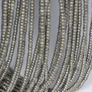 Shop Pyrite Rondelle Beads! 3x2mm Palazzo Iron Pyrite Gemstone Rondelle 3x2mm Loose Beads 16 inch Full Strand (90113266-418)   Natural genuine rondelle Pyrite beads for beading and jewelry making.  #jewelry #beads #beadedjewelry #diyjewelry #jewelrymaking #beadstore #beading #affiliate #ad