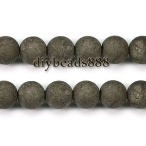 Shop Pyrite Round Beads! Iron pyrite,15 inch full strand Iron pyrite matte round beads,golden brass beads 4mm 6mm 8mm 10mm 12mm for Choice | Natural genuine round Pyrite beads for beading and jewelry making.  #jewelry #beads #beadedjewelry #diyjewelry #jewelrymaking #beadstore #beading #affiliate #ad