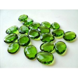 Shop Quartz Cabochons! 5 Pieces Polki 12x15mm To 15x20mm Each Peridot Colored Rose Cut Hydro Quartz Flat Cabochons RS20 | Natural genuine stones & crystals in various shapes & sizes. Buy raw cut, tumbled, or polished gemstones for making jewelry or crystal healing energy vibration raising reiki stones. #crystals #gemstones #crystalhealing #crystalsandgemstones #energyhealing #affiliate #ad