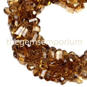 Shop Quartz Chip & Nugget Beads! Whisky Quartz Faceted Flat Nuggets Shape Beads, Whisky Quartz Central Drill Nugget Beads, Whisky Quartz Flat Nuggets, Whisky Quartz Nuggets | Natural genuine chip Quartz beads for beading and jewelry making.  #jewelry #beads #beadedjewelry #diyjewelry #jewelrymaking #beadstore #beading #affiliate #ad