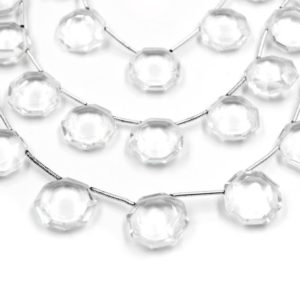 Shop Quartz Crystal Bead Shapes! Clear Quartz Beads | Hand Cut Indian Gemstone | 15mm X 15mm Hexagon Shaped Beads | High Quality Clear Quartz | Loose Gemstone Beads | Natural genuine other-shape Quartz beads for beading and jewelry making.  #jewelry #beads #beadedjewelry #diyjewelry #jewelrymaking #beadstore #beading #affiliate #ad
