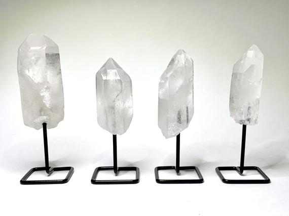 Clear Quartz Point On Stand