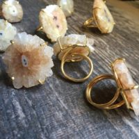 Raw Stone Ring , solar Quartz Ring, raw Quartz Ring, quartz Ring Gold, stone Statement Ring, autumn Jewelry , Adjustable Stone Ring, Gold Ring | Natural genuine Gemstone jewelry. Buy crystal jewelry, handmade handcrafted artisan jewelry for women.  Unique handmade gift ideas. #jewelry #beadedjewelry #beadedjewelry #gift #shopping #handmadejewelry #fashion #style #product #jewelry #affiliate #ad