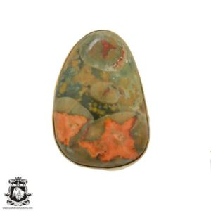 Shop Rainforest Jasper Rings! Size 10.5 – Size 12 Adjustable Rhyolite Rainforest Jasper 24K Gold Plated Ring GPR630   Natural genuine Rainforest Jasper rings, simple unique handcrafted gemstone rings. #rings #jewelry #shopping #gift #handmade #fashion #style #affiliate #ad