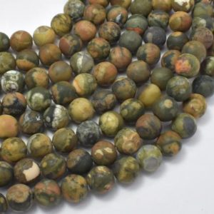 Shop Rainforest Jasper Beads! Matte Rhyolite Beads, 8mm (8.5mm) Round Beads, 15 Inch, Full strand, Approx 46 Beads, Hole 1 mm, A quality (387054014) | Natural genuine round Rainforest Jasper beads for beading and jewelry making.  #jewelry #beads #beadedjewelry #diyjewelry #jewelrymaking #beadstore #beading #affiliate #ad