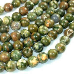 Shop Rainforest Jasper Beads! Rhyolite Beads, 10mm (10.6mm) Round Beads, 15.5 Inch, Full Strand, Approx 38 Beads, Hole 1mm, A Quality (387054015) | Natural genuine round Rainforest Jasper beads for beading and jewelry making.  #jewelry #beads #beadedjewelry #diyjewelry #jewelrymaking #beadstore #beading #affiliate #ad