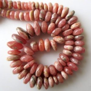Shop Rhodochrosite Rondelle Beads! Rhodochrosite Rondelle Beads, Smooth Rondelle Beads, 8mm to 14mm Beads, 16 Inch Strand, GDS657 | Natural genuine rondelle Rhodochrosite beads for beading and jewelry making.  #jewelry #beads #beadedjewelry #diyjewelry #jewelrymaking #beadstore #beading #affiliate #ad
