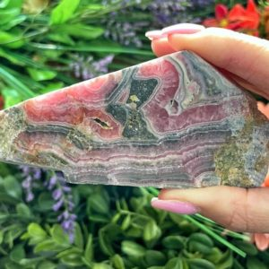 Shop Rhodochrosite Shapes! Rhodochrosite Slab From Argentina – Rare – Healing Stone – Heart Chakra Stone No 11 | Natural genuine stones & crystals in various shapes & sizes. Buy raw cut, tumbled, or polished gemstones for making jewelry or crystal healing energy vibration raising reiki stones. #crystals #gemstones #crystalhealing #crystalsandgemstones #energyhealing #affiliate #ad
