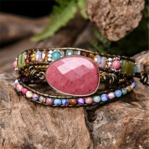 Rhodonite Stone Bracelet-healing Meditation Balance Calm Bracelet-spiritual Protection Inner Peace Mental Health Anxiety Relief Bracelet | Natural genuine Gemstone bracelets. Buy crystal jewelry, handmade handcrafted artisan jewelry for women.  Unique handmade gift ideas. #jewelry #beadedbracelets #beadedjewelry #gift #shopping #handmadejewelry #fashion #style #product #bracelets #affiliate #ad