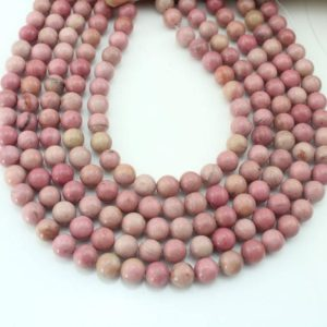 Shop Rhodonite Bead Shapes! 4mm, 6mm, 8mm, 10mm Rhodonite Beads, Natural Pink Stone Beads, pink Rhodonite Beads, Loose Beads , gemstone Beads–15-16 Inches-eb343 | Natural genuine other-shape Rhodonite beads for beading and jewelry making.  #jewelry #beads #beadedjewelry #diyjewelry #jewelrymaking #beadstore #beading #affiliate #ad
