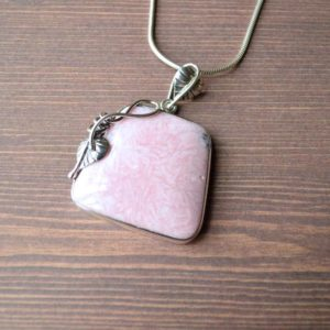 Shop Rhodonite Pendants! Pink Pillows Rhodonite Pendant // Rhodonite Jewelry // Sterling Silver // Village Silversmith | Natural genuine Rhodonite pendants. Buy crystal jewelry, handmade handcrafted artisan jewelry for women.  Unique handmade gift ideas. #jewelry #beadedpendants #beadedjewelry #gift #shopping #handmadejewelry #fashion #style #product #pendants #affiliate #ad
