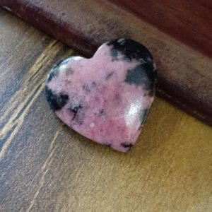 Shop Rhodonite Shapes! Natural Rhodonite 22 MM Heart shape genuine gemstone beautiful colour gemstone jewellery stone   Natural genuine stones & crystals in various shapes & sizes. Buy raw cut, tumbled, or polished gemstones for making jewelry or crystal healing energy vibration raising reiki stones. #crystals #gemstones #crystalhealing #crystalsandgemstones #energyhealing #affiliate #ad