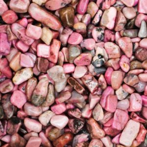 Shop Tumbled Rhodonite Crystals & Pocket Stones! Rhodonite Tumbled Crystal Chips, Choose Amount | Natural genuine stones & crystals in various shapes & sizes. Buy raw cut, tumbled, or polished gemstones for making jewelry or crystal healing energy vibration raising reiki stones. #crystals #gemstones #crystalhealing #crystalsandgemstones #energyhealing #affiliate #ad