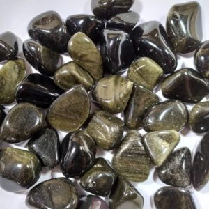 Shop Golden Obsidian Stones & Crystals! Rolled stone – Golden Obsidian | Natural genuine stones & crystals in various shapes & sizes. Buy raw cut, tumbled, or polished gemstones for making jewelry or crystal healing energy vibration raising reiki stones. #crystals #gemstones #crystalhealing #crystalsandgemstones #energyhealing #affiliate #ad