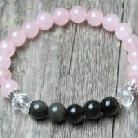 Rose Quartz & Hawks Eye Healing Stone Bracelet Or Anklet With Positive Healing Energy! | Natural genuine Gemstone jewelry. Buy crystal jewelry, handmade handcrafted artisan jewelry for women.  Unique handmade gift ideas. #jewelry #beadedjewelry #beadedjewelry #gift #shopping #handmadejewelry #fashion #style #product #jewelry #affiliate #ad