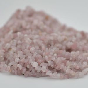 """Shop Rose Quartz Chip & Nugget Beads! High Quality Grade A Natural Madagascar Rose Quartz Semi-precious Gemstone Chips Nuggets Beads – 5mm – 8mm, approx 36"""" Strand   Natural genuine chip Rose Quartz beads for beading and jewelry making.  #jewelry #beads #beadedjewelry #diyjewelry #jewelrymaking #beadstore #beading #affiliate #ad"""