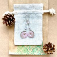 Rose Quartz Drop Earrings, Bohemian Earrings, Pink Long Earrings, Fossil Earrings , Crystal Earrings | Natural genuine Gemstone jewelry. Buy crystal jewelry, handmade handcrafted artisan jewelry for women.  Unique handmade gift ideas. #jewelry #beadedjewelry #beadedjewelry #gift #shopping #handmadejewelry #fashion #style #product #jewelry #affiliate #ad