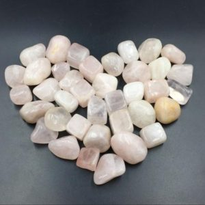 Shop Tumbled Rose Quartz Crystals & Pocket Stones! Rose Quartz Tumbled Pink Quartz Crystal Stone Tumbled Gemstone Healing Gemtone Mineral Specimen Reiki Meditation Chakra Altar CD-TS | Natural genuine stones & crystals in various shapes & sizes. Buy raw cut, tumbled, or polished gemstones for making jewelry or crystal healing energy vibration raising reiki stones. #crystals #gemstones #crystalhealing #crystalsandgemstones #energyhealing #affiliate #ad