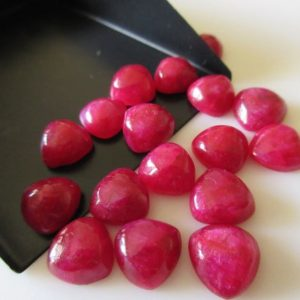 Shop Ruby Cabochons! 8 Pieces 10mm Each Red Corundum Trillion Shaped Ruby Color Loose Cabochons Cl133 / 1 | Natural genuine stones & crystals in various shapes & sizes. Buy raw cut, tumbled, or polished gemstones for making jewelry or crystal healing energy vibration raising reiki stones. #crystals #gemstones #crystalhealing #crystalsandgemstones #energyhealing #affiliate #ad