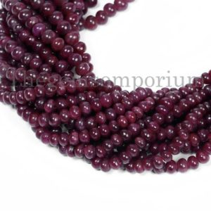 Shop Ruby Rondelle Beads! Natural Ruby Plain Rondelle Shape Beads, Ruby Smooth Rondelle Beads, Ruby Rondelle Beads, Ruby Beads, Ruby Smooth Beads, Natural Ruby Beads | Natural genuine rondelle Ruby beads for beading and jewelry making.  #jewelry #beads #beadedjewelry #diyjewelry #jewelrymaking #beadstore #beading #affiliate #ad