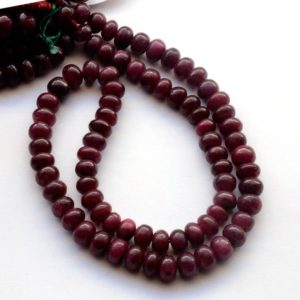 """Shop Ruby Rondelle Beads! Natural Ruby Smooth Rondelle Beads, Ruby Loose Gemstone Beads, 4mm To 8mm Ruby Beads, Sold As 12""""/16""""/19""""/20""""/22 Inch Strand, GDS2048 