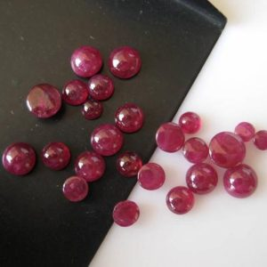 Shop Ruby Round Beads! 10 Pieces 3mm To 5mm Natural Ruby Smooth Round Shaped Flat Back Loose Cabochons Jewelry Bb332 | Natural genuine round Ruby beads for beading and jewelry making.  #jewelry #beads #beadedjewelry #diyjewelry #jewelrymaking #beadstore #beading #affiliate #ad