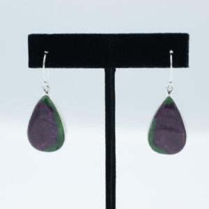 Shop Ruby Zoisite Earrings! Ruby in Zoisite Earrings // Ruby Zoisite Jewelry // Ruby Zoisite Stone // Sterling Silver // Village Silversmith | Natural genuine Ruby Zoisite earrings. Buy crystal jewelry, handmade handcrafted artisan jewelry for women.  Unique handmade gift ideas. #jewelry #beadedearrings #beadedjewelry #gift #shopping #handmadejewelry #fashion #style #product #earrings #affiliate #ad