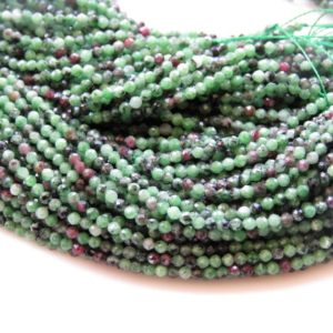 Shop Ruby Zoisite Faceted Beads! 2.5mm Natural Ruby Zoisite Faceted Round Beads, Faceted Ruby Zoisite Beads, 2.5mm Gemstone Beads, 13 Inch Strand, Gds1428 | Natural genuine faceted Ruby Zoisite beads for beading and jewelry making.  #jewelry #beads #beadedjewelry #diyjewelry #jewelrymaking #beadstore #beading #affiliate #ad