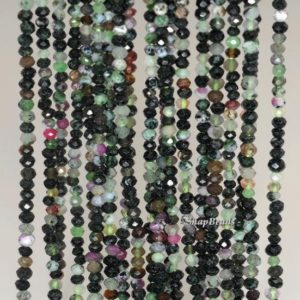 Shop Ruby Zoisite Faceted Beads! 3x2mm Dark Ruby Zoisite Gemstone Grade B Faceted Rondelle Loose Beads 16 inch Full strand (90192092-344) | Natural genuine faceted Ruby Zoisite beads for beading and jewelry making.  #jewelry #beads #beadedjewelry #diyjewelry #jewelrymaking #beadstore #beading #affiliate #ad