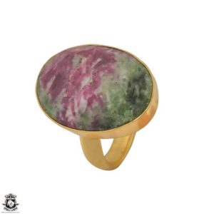Shop Ruby Zoisite Rings! Size 8.5 – Size 10 Adjustable Ruby Zoisite 24K Gold Plated Ring GPR1220 | Natural genuine Ruby Zoisite rings, simple unique handcrafted gemstone rings. #rings #jewelry #shopping #gift #handmade #fashion #style #affiliate #ad