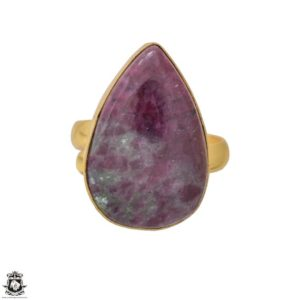 Shop Ruby Zoisite Rings! Size 9.5 – Size 11 Adjustable Ruby Zoisite 24K Gold Plated Ring GPR1213 | Natural genuine Ruby Zoisite rings, simple unique handcrafted gemstone rings. #rings #jewelry #shopping #gift #handmade #fashion #style #affiliate #ad