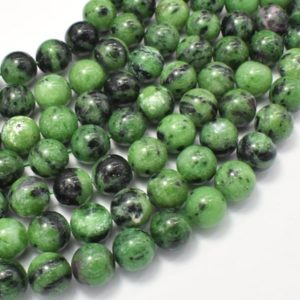 Shop Ruby Zoisite Round Beads! Ruby Zoisite Beads, Round, 10mm, 15.5 Inch, Full strand, Approx 40 beads, Hole 1mm (394054007) | Natural genuine round Ruby Zoisite beads for beading and jewelry making.  #jewelry #beads #beadedjewelry #diyjewelry #jewelrymaking #beadstore #beading #affiliate #ad